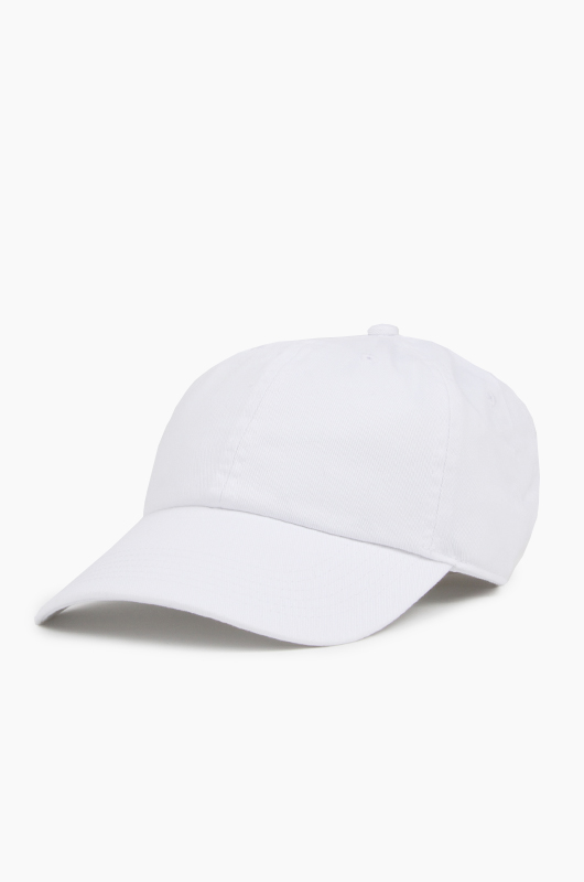 NEWHATTAN Cotton Ballcap White