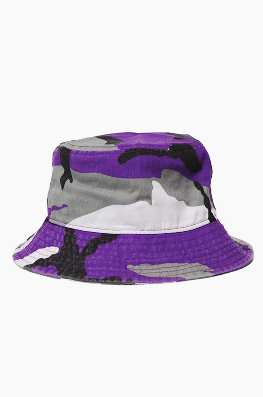 NEWHATTAN Bucket Purple Camo