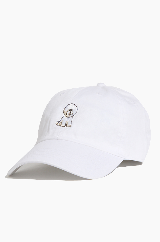 WARF Cotton Ballcap Bichon White