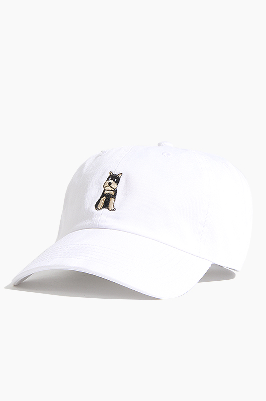 WARF Cotton Ballcap Schnauzer White