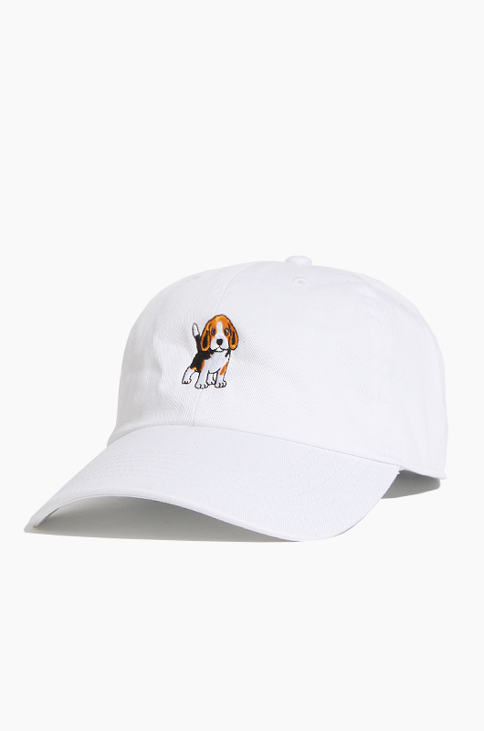 WARF Cotton Ballcap Beagle White
