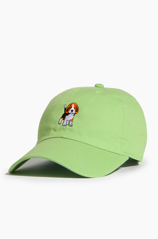 WARF Cotton Ballcap Beagle Lt.Green