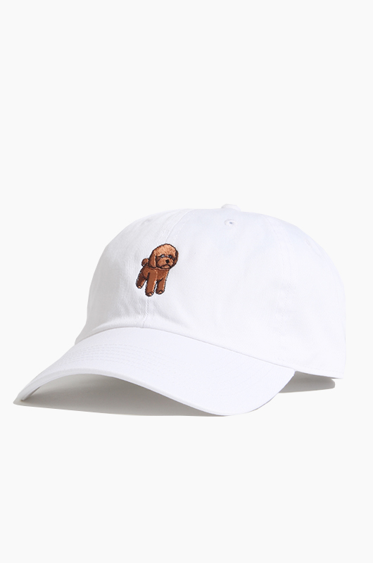WARF Cotton Ballcap Poodle White