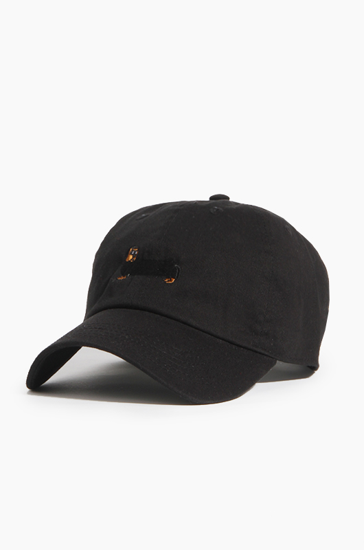 WARF Cotton Ballcap Dachshund Black