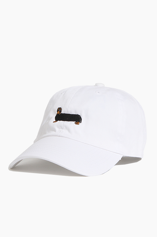WARF Cotton Ballcap Dachshund White