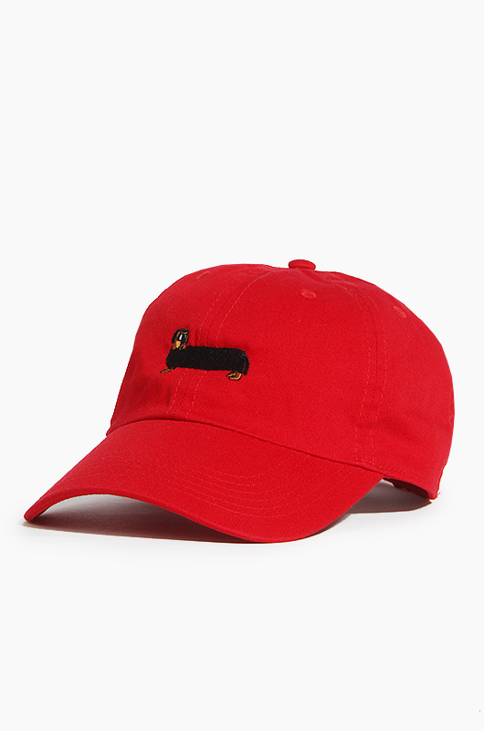 WARF Cotton Ballcap Dachshund Red