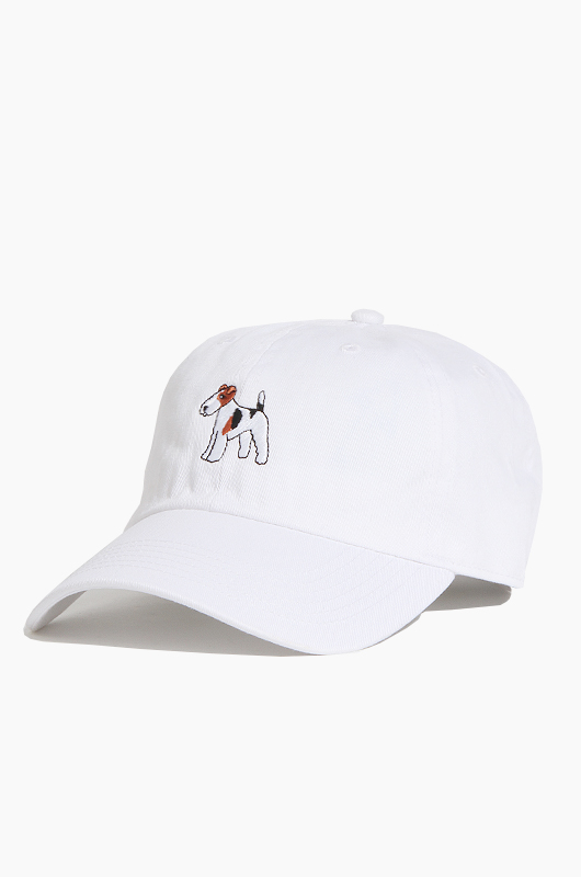 WARF Cotton Ballcap Fox Terrier White