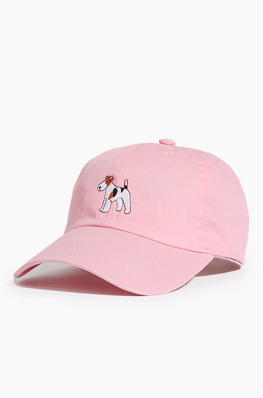 WARF Cotton Ballcap Fox Terrier Pink