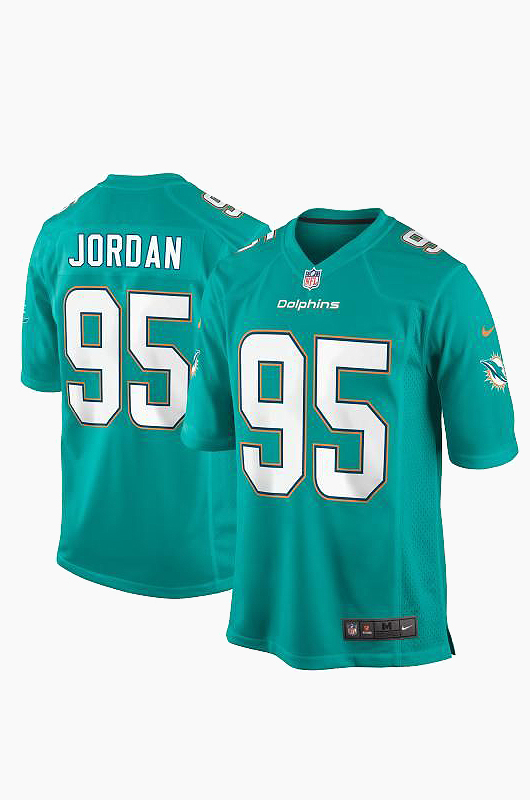 NFL Nike Dolphins Game Jersey Aqua(95)