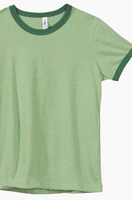 BELLA WOMEN Ringer T Green/Forest