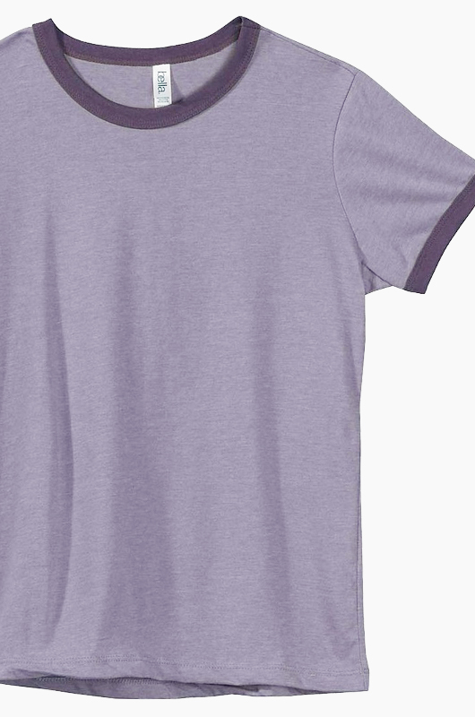 BELLA WOMEN Ringer T Purple/Purple