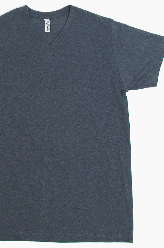 AAA V-Neck S/S Navy Heather