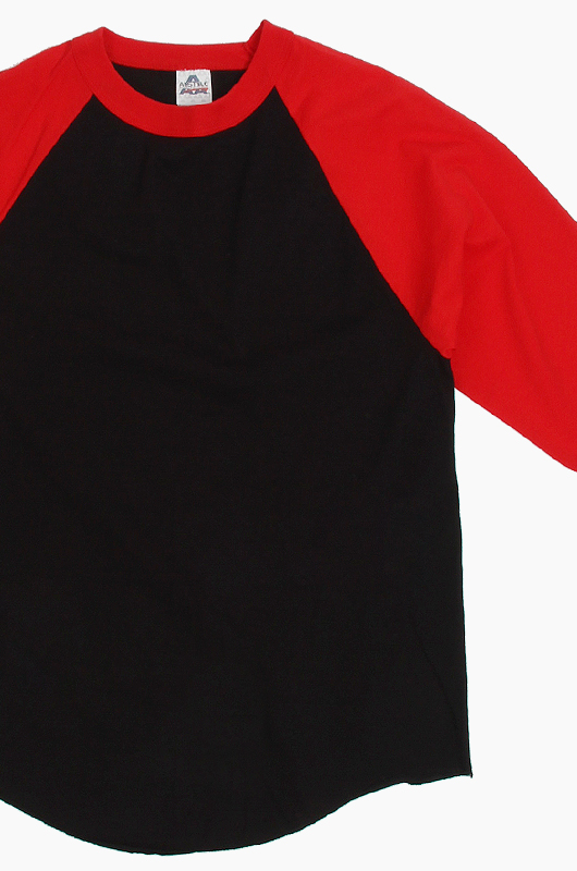 AAA Raglan Tee Black/Red