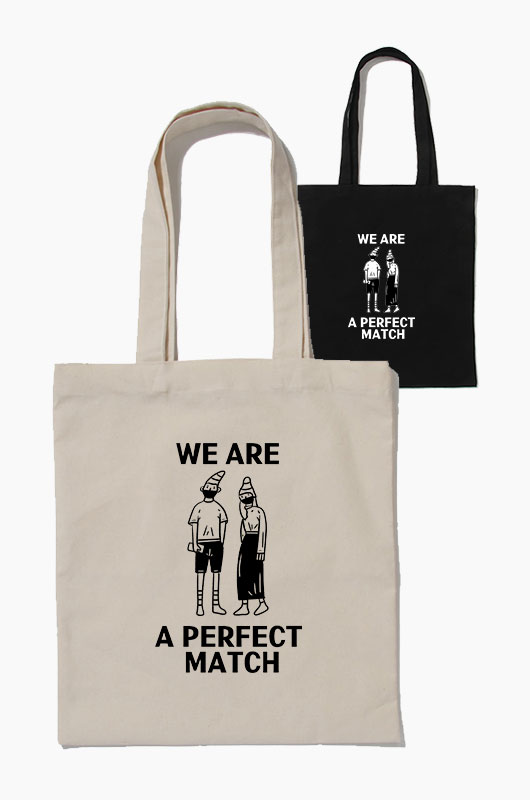 SIHO We are a perfect match Eco Bag
