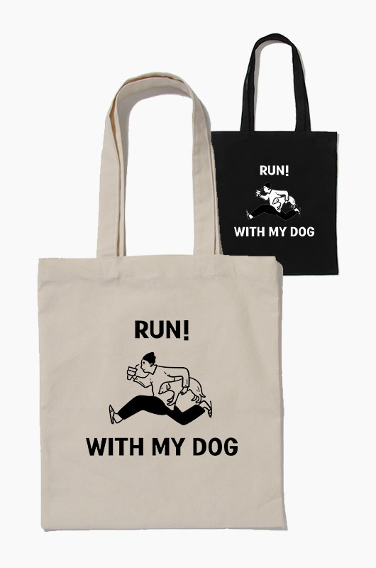 SIHO Run! with my dog Eco Bag