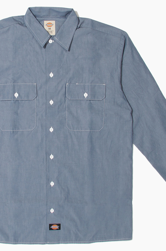 DICKIES WL509 Chambray L/S Shirt BU