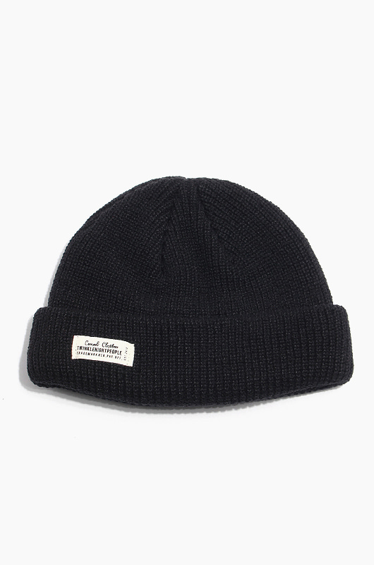 TNP WH Label Watch Cap Black