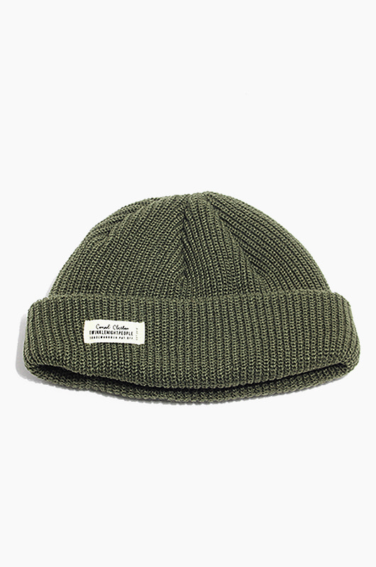 TNP WH Label Watch Cap Khaki
