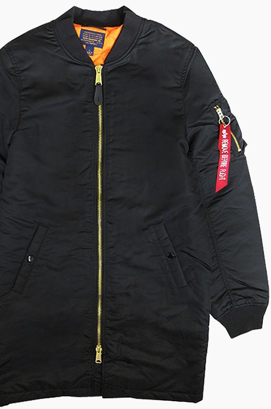 ALPHA INDUSTRIES MA-1 Long Black