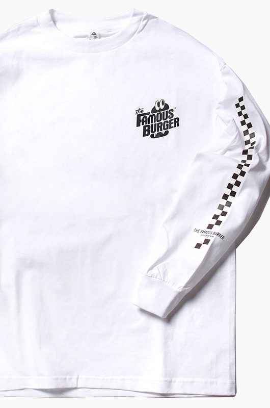 THE FAMOUS BURGER TFB L/S White