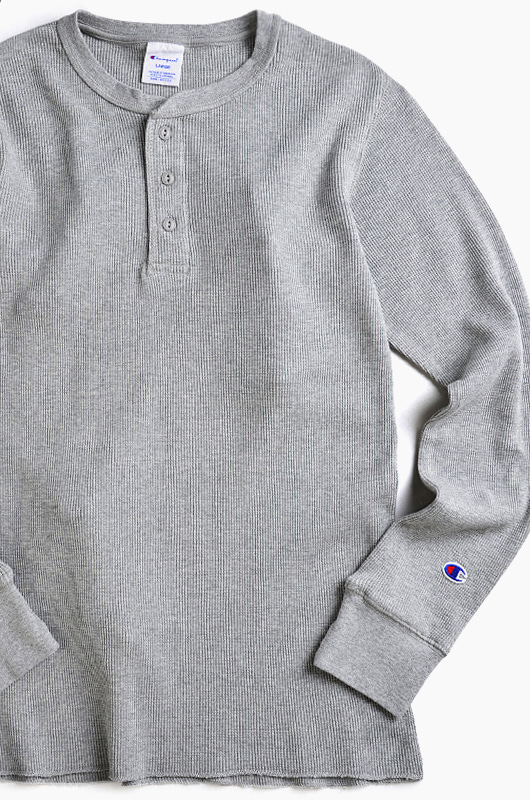 CHAMPION (JAPAN) Henley Thermal l/s Grey