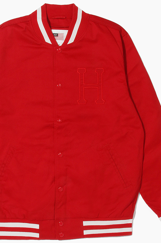 HUF Classic H Varsity Jacket Red