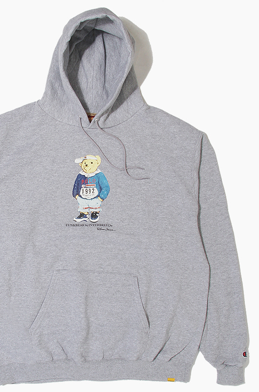 INTERBREED Funk Lo Bear Hood Grey