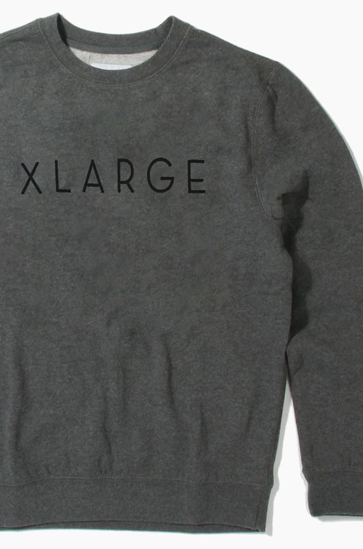 XLARGE Slim Slant Crew Grey Heather
