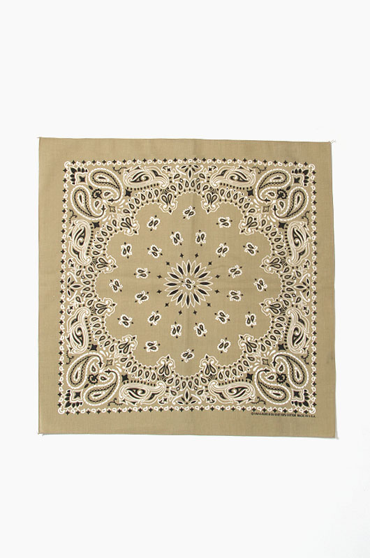 HAV A HANK Traditional Paisleys Bandana Beige