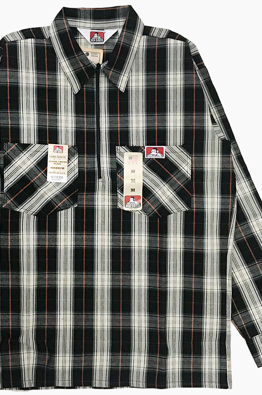 BENDAVIS Long Sleeve Plaid Black/Cream