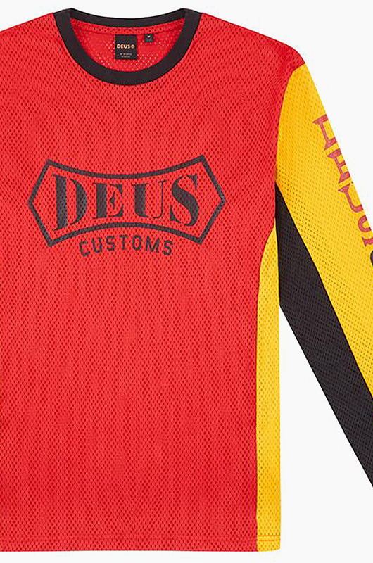 DEUS Penney Moto Jersey Yellow/Red