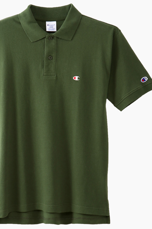 CHAMPION (JAPAN) Polo Shirt (C3-F356) Olive