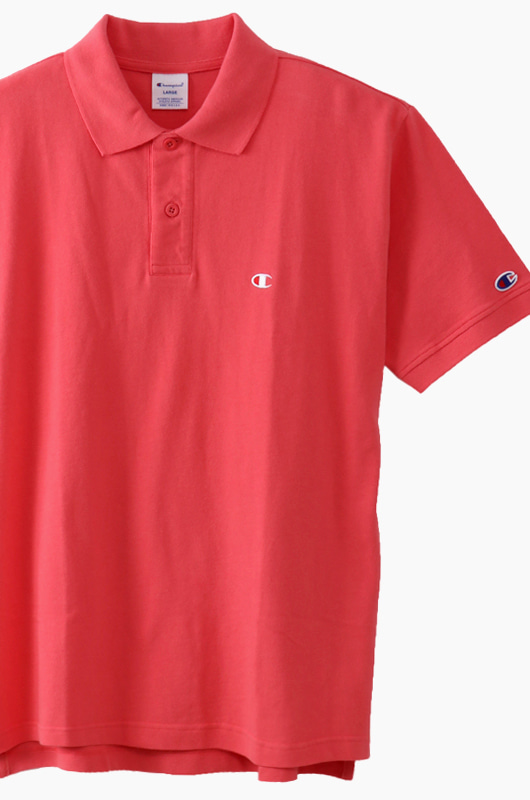 CHAMPION (JAPAN) Polo Shirt (C3-F356) Hot Pink