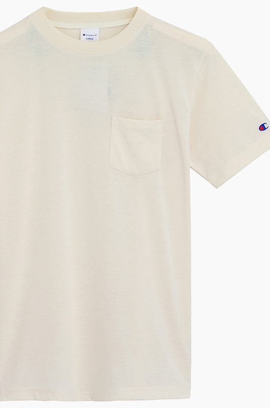 CHAMPION (JAPAN) Pocket T-Shirt (C3-K344) Cream