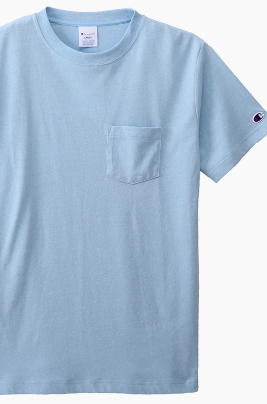 CHAMPION (JAPAN) Pocket T-Shirt (C3-K344) Sky Blue