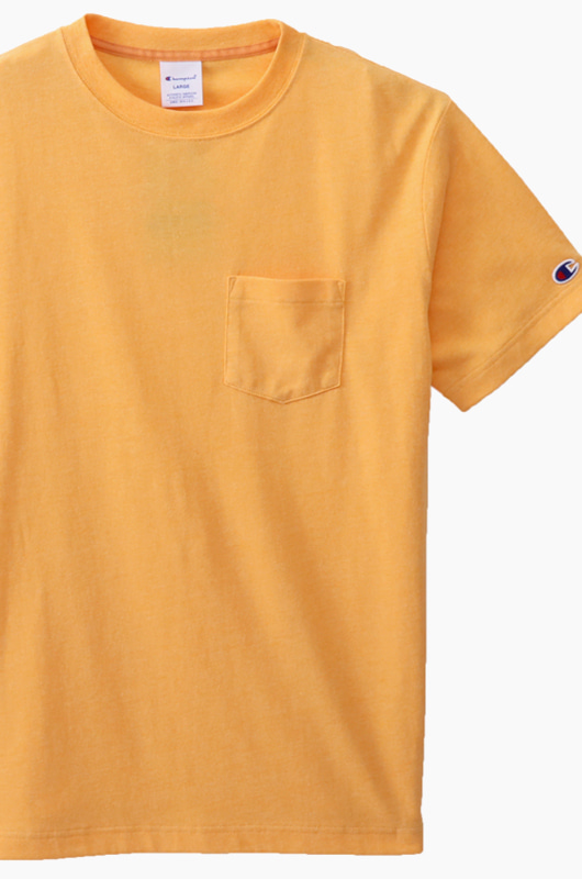CHAMPION (JAPAN) Pocket T-Shirt (C3-K344) Gold