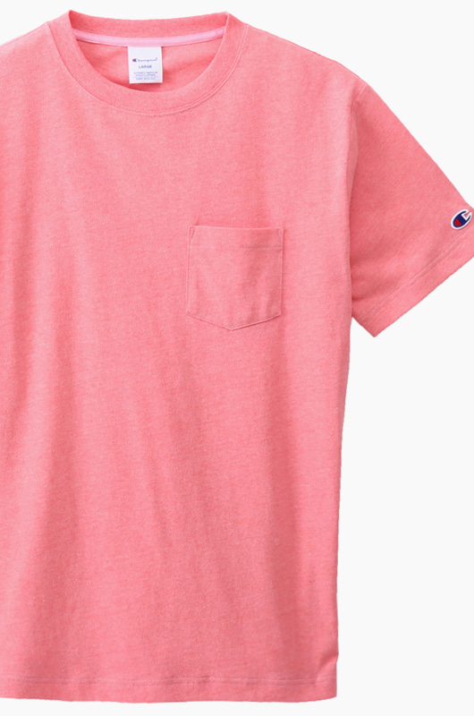 CHAMPION (JAPAN) Pocket T-Shirt (C3-K344) Pink