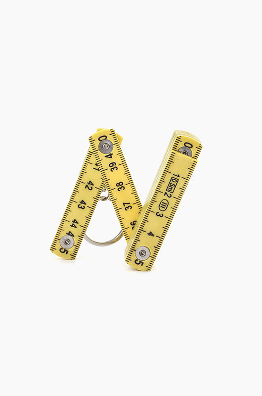 KIKKERLAND Folding Ruler Keychain Yellow