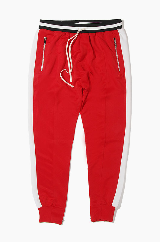 HYPER DENIM Track Zipper Jogger Red