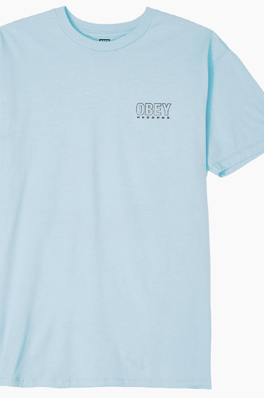OBEY Records s/s Powder Blue
