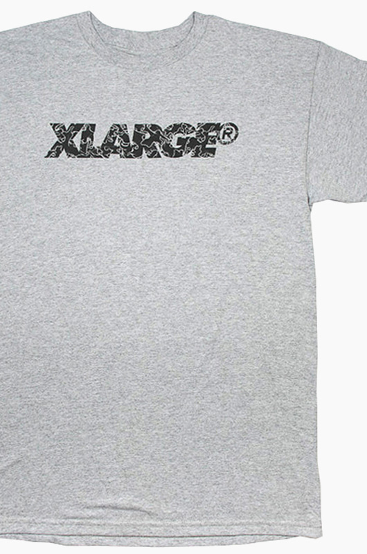 XLARGE Leaves Slanted Type S/S Grey