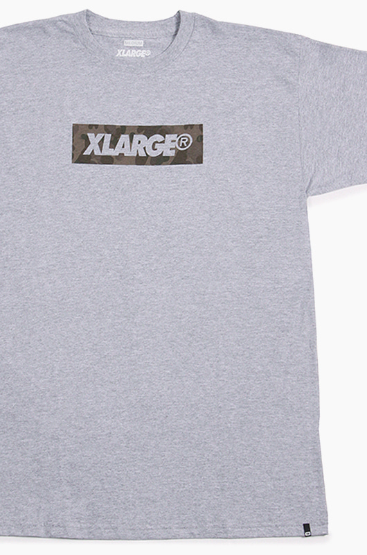 XLARGE XL Slant Box S/S Grey