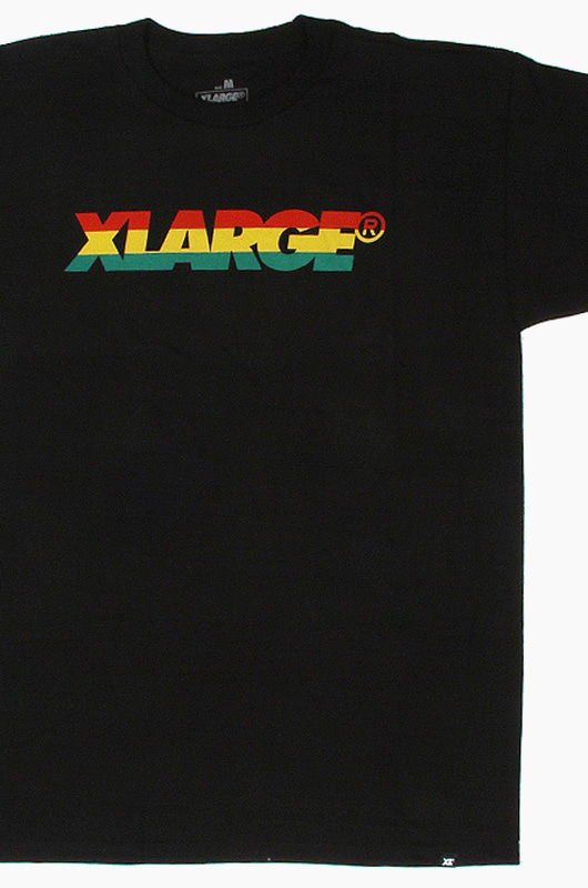 XLARGE Slanted Stripe S/S Black