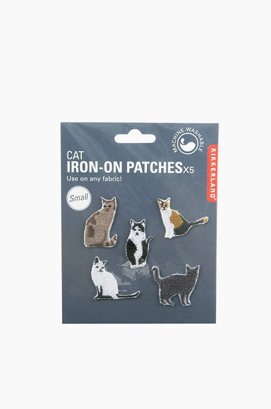 KIKKERLAND Easy Iron-on Patches Cat Set Small