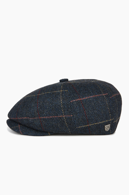 BRIXTON Brood Navy Plaid