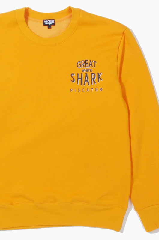 PISCATOR Great White Shark Crewneck Gold