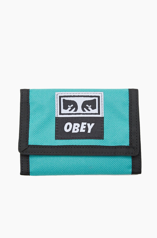 OBEY Drop Out Tri Fold Wallet Teal