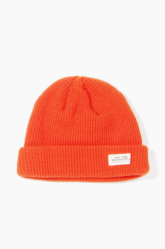 TNP WH Label Watch Cap Orange