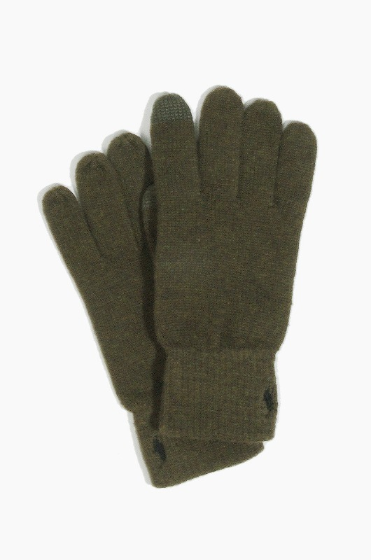 POLO Cotton Merino Touch Glove Olive