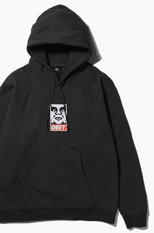 OBEY Icon Face Hood Black
